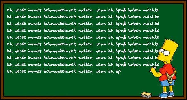 Bart nutzt Schmunzeln.net