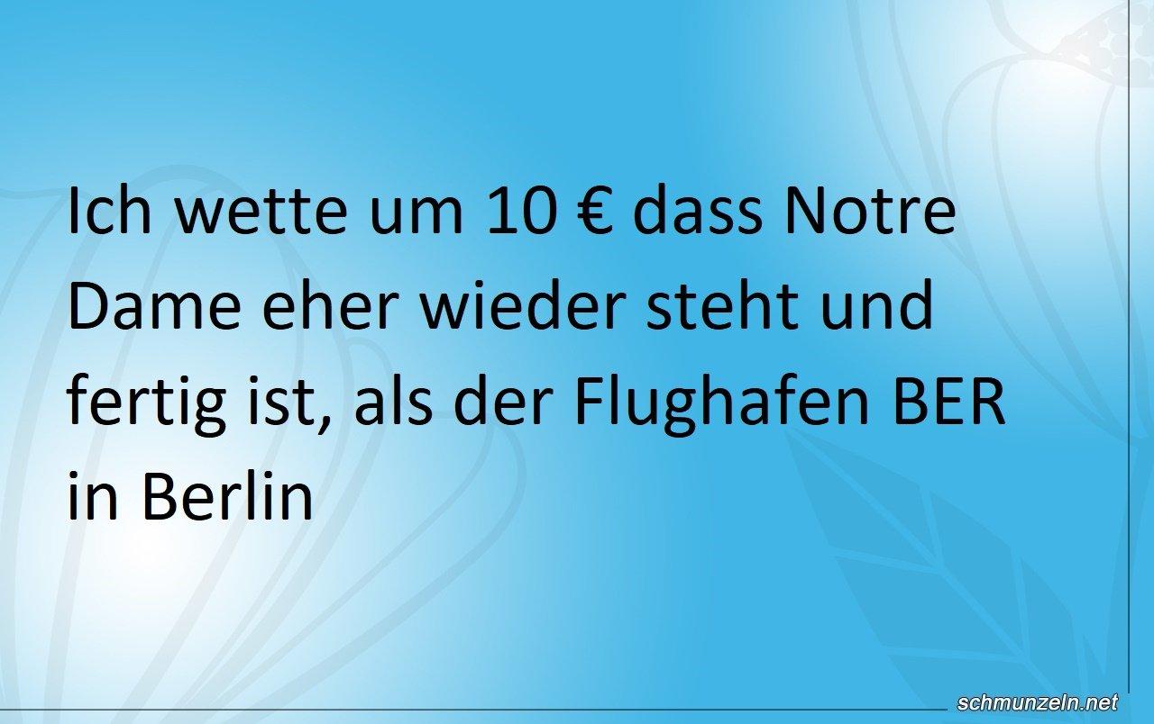 Notre Damm vs. Berliner Flughafen BER