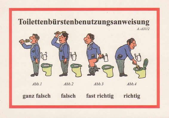 Toilettenbürsten Benutzungs Anleitung